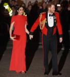 Il principe Harry, il duca di Sussex e Meghan, la duchessa di Sussex arriva al Mountbatten Festival of Music