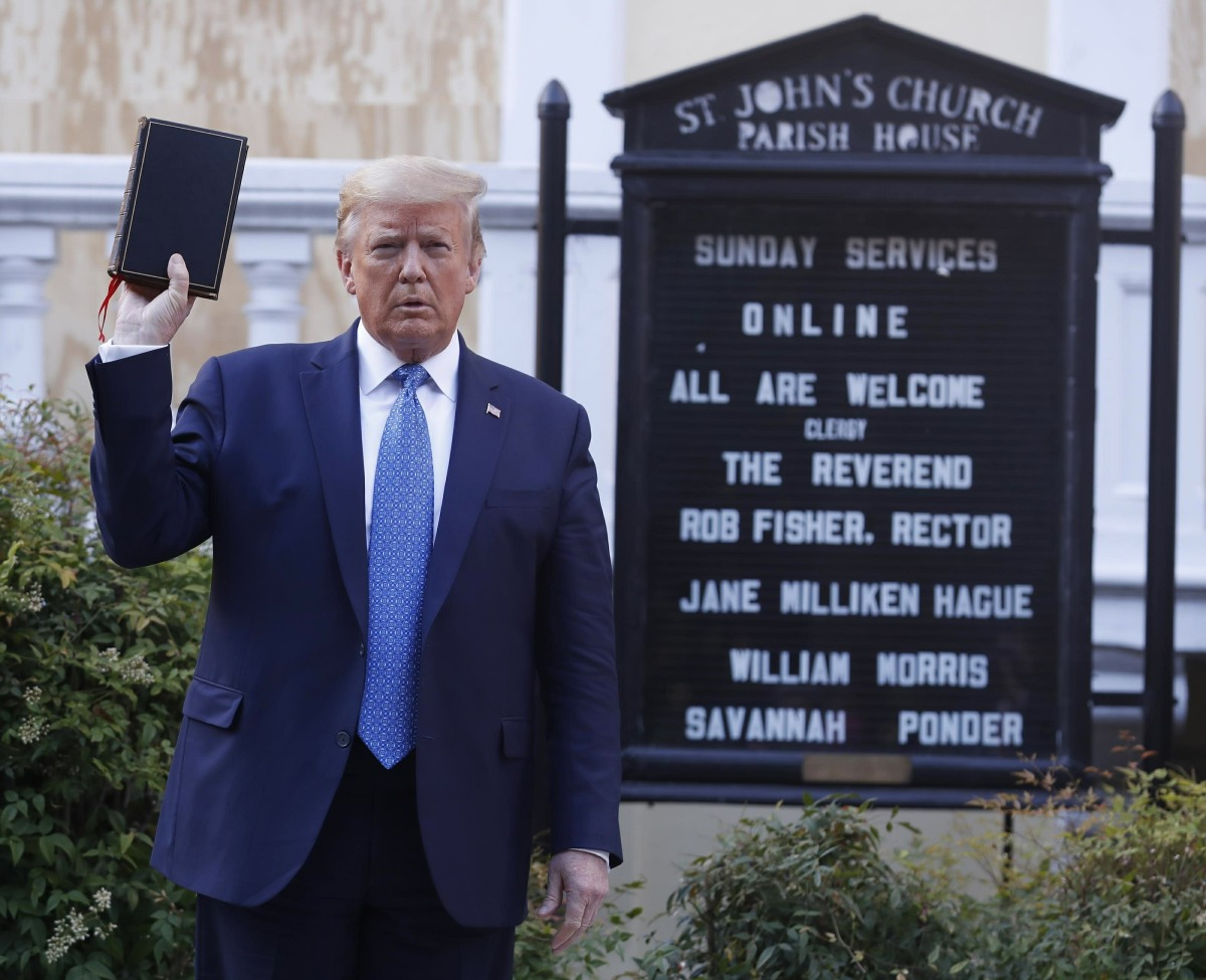 Donald Trump Visits St. John's Church
