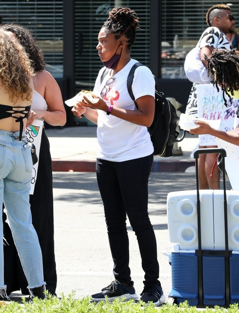 Tiffany Haddish and Common join the pride BLM protest