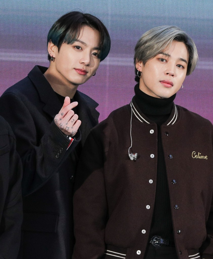 Jungkook, Jimin at a public appearance f...