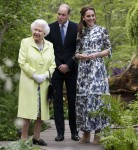 HRH The Queen visiting is shown around 'Back to Nature' by the Duke and Duchess of Cambridge