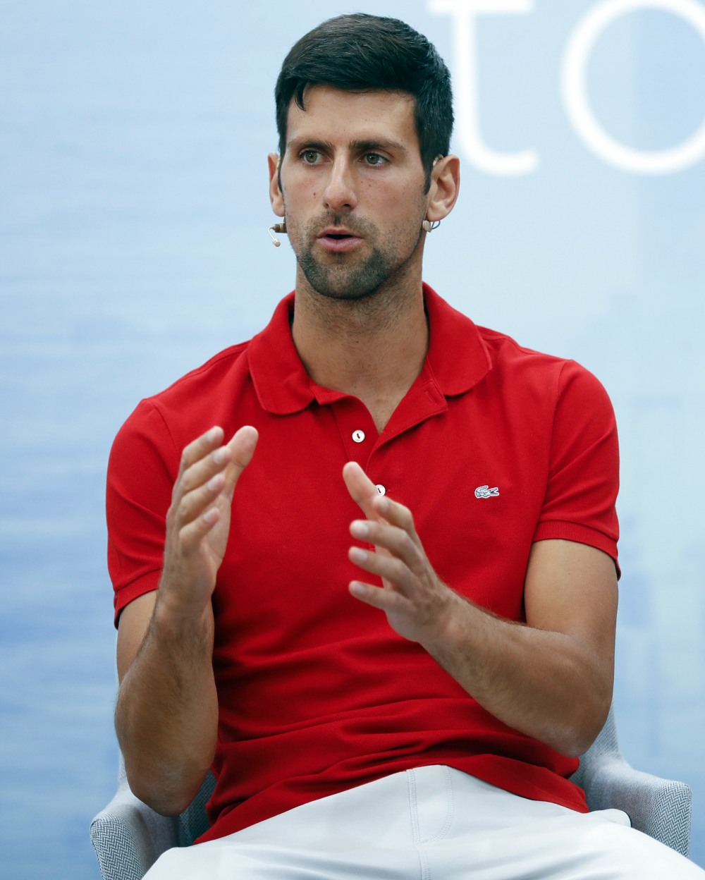 Novak Djokovic presser