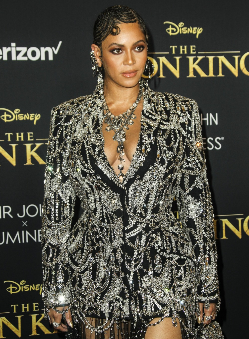 Beyonce at arrivals for THE LION KING Pr...