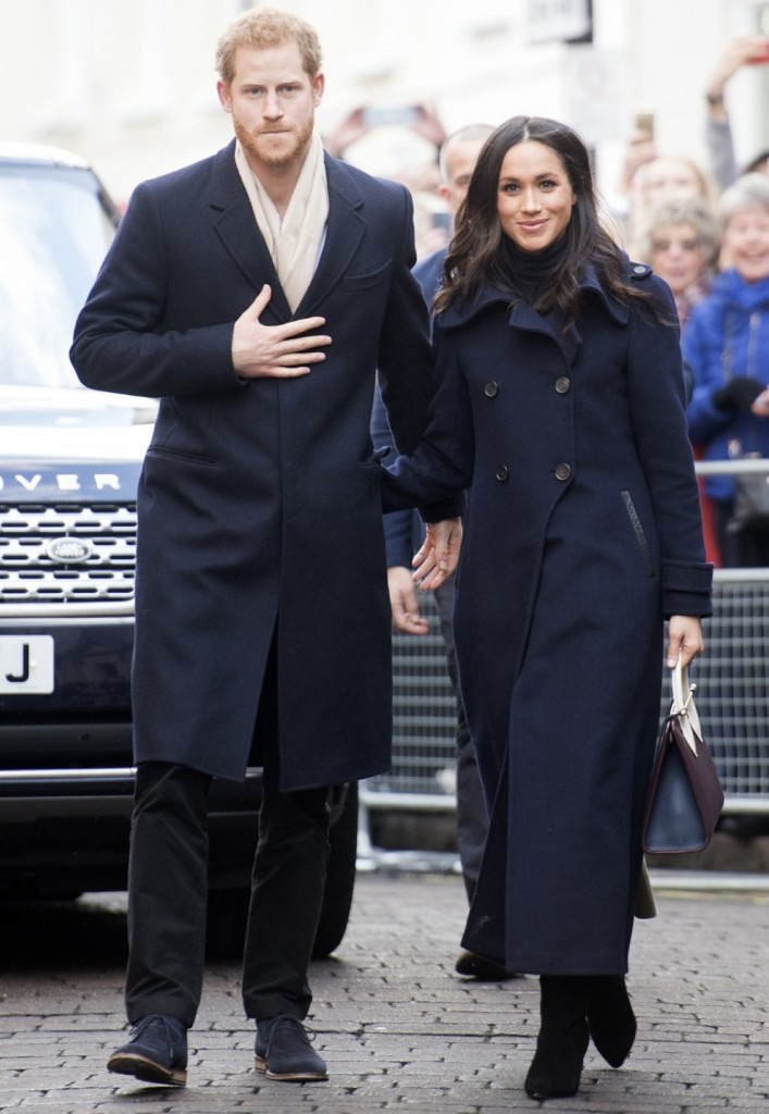 MEGHAN MARKLE AND PRINCE HARRY IN NOTTINGHAM TODAY01/12/201