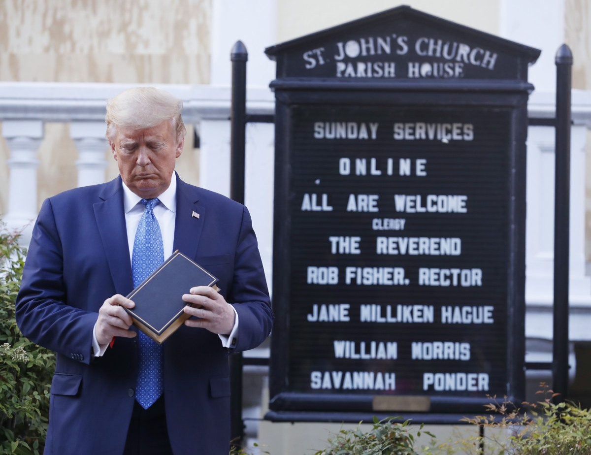 Trump Visits St. John's Church