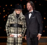 Diane Keaton and Keanu Reeves present the Oscar® for Original Screenplay during the live ABC Tele...