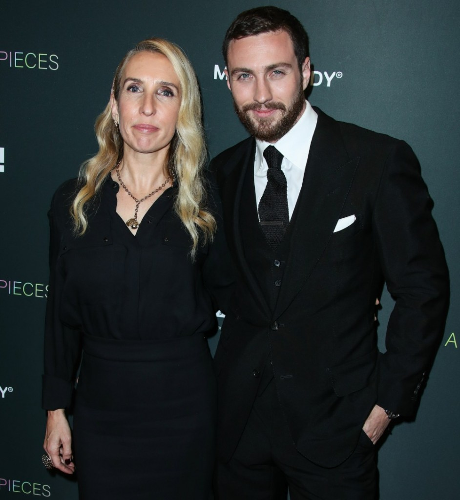 Sam Taylor-Johnson and husband Aaron Taylor-Johnson arrive at the Los Angeles Special Screening Of Momentum Pictures' 'A Million Little Pieces' held at The London Hotel West Hollywood at Beverly Hills on December 4, 2019 in West Hollywood, Los Angeles, Cal