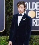 Ansel Elgort attends the 77th Annual Golden Globe Awards at The Beverly Hilton Hotel on January 05, 2020 in Beverly Hills, California