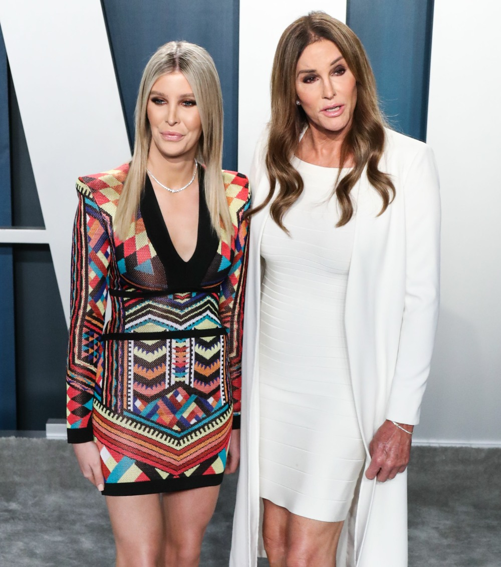 Sophia Hutchins and Caitlyn Jenner arrive at the 2020 Vanity Fair Oscar Party held at the Wallis Ann...