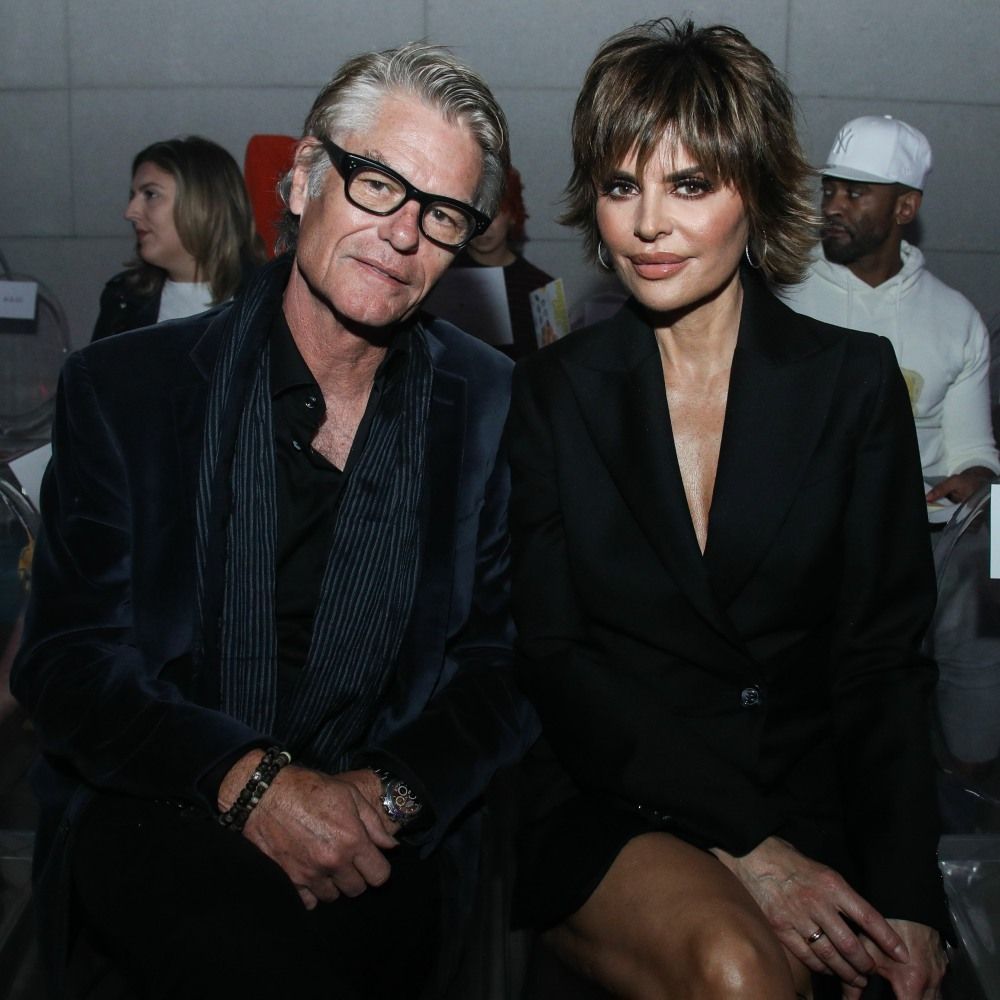 Actor Harry Hamlin and wife/actress Lisa Rinna a...