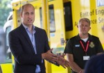 Duke of Cambridge meets ambulance staff