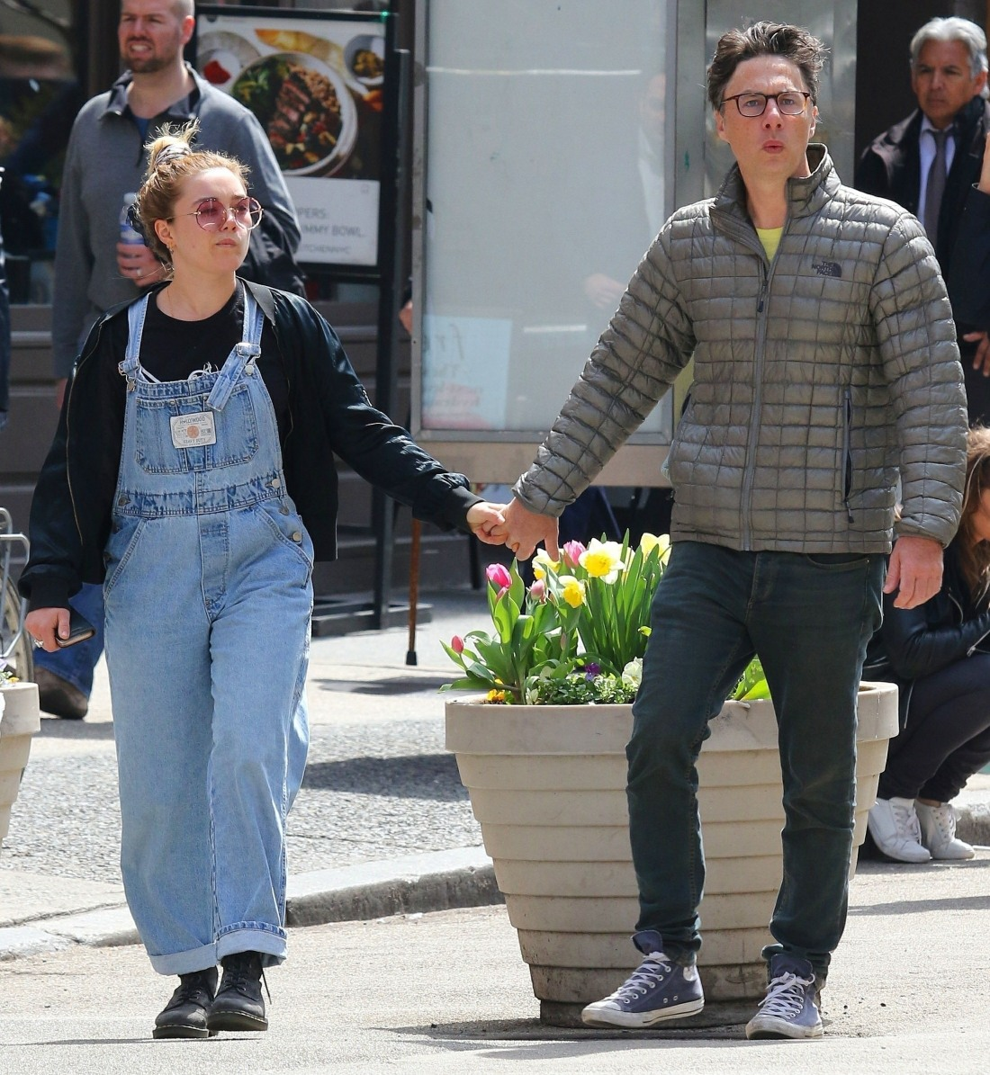 Zach Braff spotted hand-in-hand with Florence Pugh in NYC!