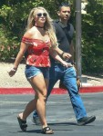 Britney Spears pictured while out shopping at the Oaks Mall
