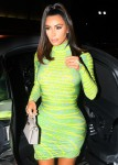 Kim Kardashian Walks into Craigs rocking a green dress