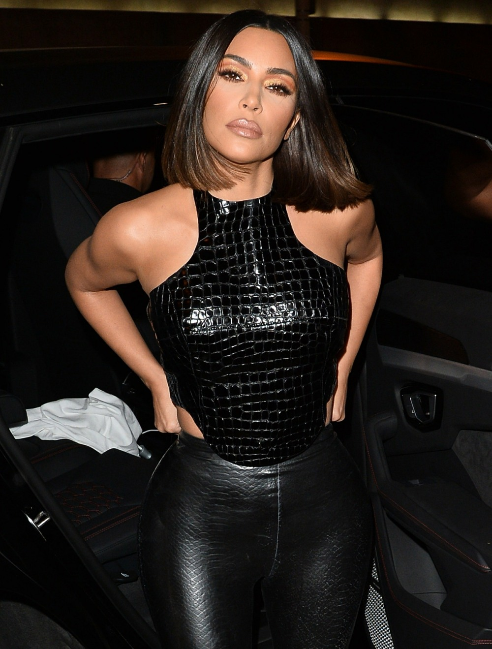 Kim Kardashian and Kanye West celebrate at Craig's in West Hollywood!