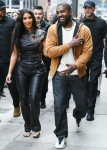 Kim Kardashian and Kanye West cause a frenzy in Midtown as they head to a souvenir shop in New York