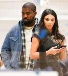 Kim Kardashian and Kanye West go shopping at the Dover Street Market