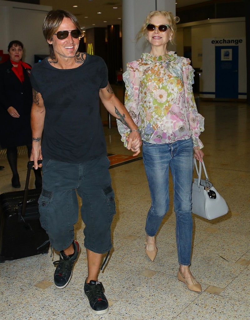 Nicole Kidman and Keith Urban arrive In Sydney For Christmas