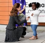 Catherine Duchess of Cambridge attends a National Portrait Gallery workshop at the Evelina Children's Hospital
