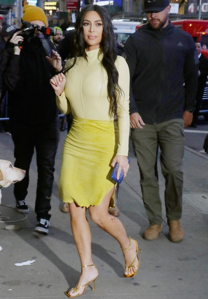 Kim Kardashian is seen at Good Morning America