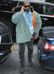 Kanye West handles business in New York City
