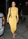 Kim Kardashian arrives at Carousel restaurant in Glendale for a family dinner