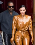 Kim Kardashian and Kanye West step out after his Sunday Church service in Paris