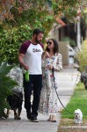 Ben Affleck and Ana De Armas enjoy a nice afternoon walk with their dogs