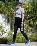 Katherine Schwarzenegger Pratt showed off her growing baby bump on Tuesday while on a walk in Brentwood