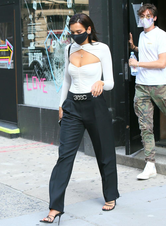 Stylish singer Dua Lipa spotted leaving a studio in New York City