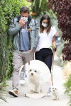 Ben Affleck and girlfriend Ana de Armas taking the dog for a walk