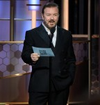 Ricky Gervais hosts the 77th Annual Golden Globe Awards at the Beverly Hilton in Beverly Hills, CA on Sunday, January 5, 2020.