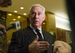 Consultant Roger Stone Speaks with the Press at Trump Tower