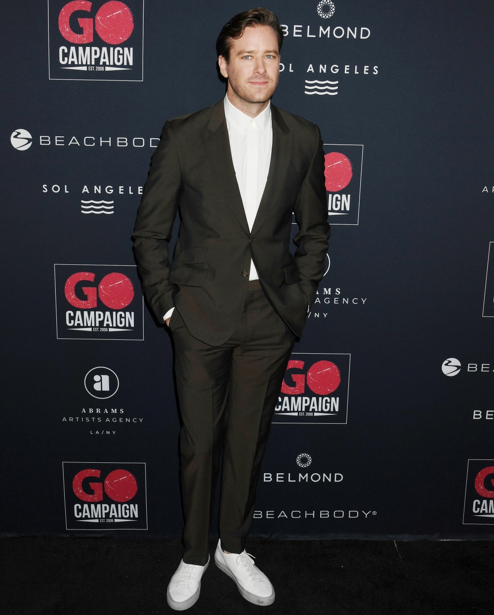 Armie Hammer at the Go Campaign's 13th Annual Go Gala at NeueHouse Hollywood