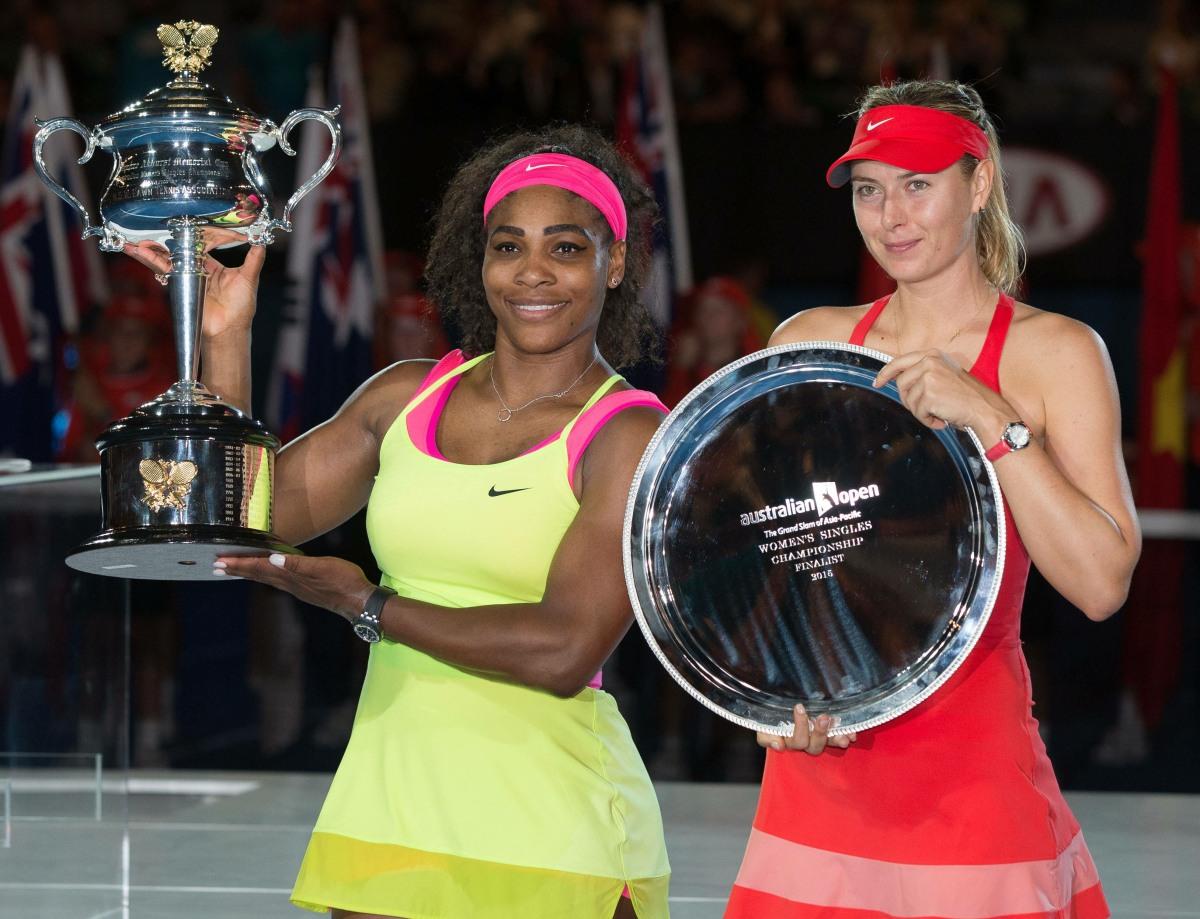 Serena Williams USA Maria Sharapova RUS Tennis Australian Open 2015 Grand Slam ATP Tennis