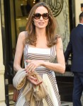 Angelina Jolie heads to Guerlain store. Paris, France on July 9, 2019.