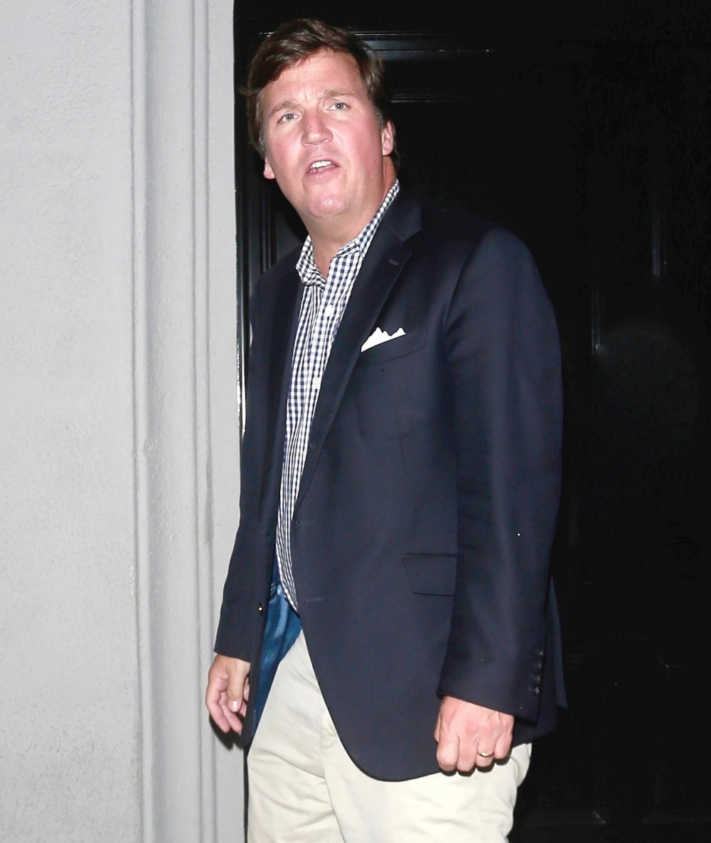 Tucker Carlson leaves Craig's after an LA dinner date