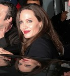 Angelina Jolie departs after a Sexual Violence seminar at The BFI in London
