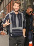 Liam Hemsworth arrives at AOL Build for press day