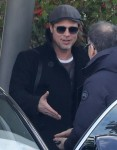 Brad Pitt arrives at Paris-Charles-de-Gaulle airport
