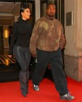 Kim Kardashian and husband Kanye West seen holding hands in NY