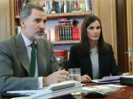 Spanish Royals Video Conference at Zarzuela Palace