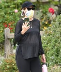 Katherine Schwarzenegger taking a walk near her home
