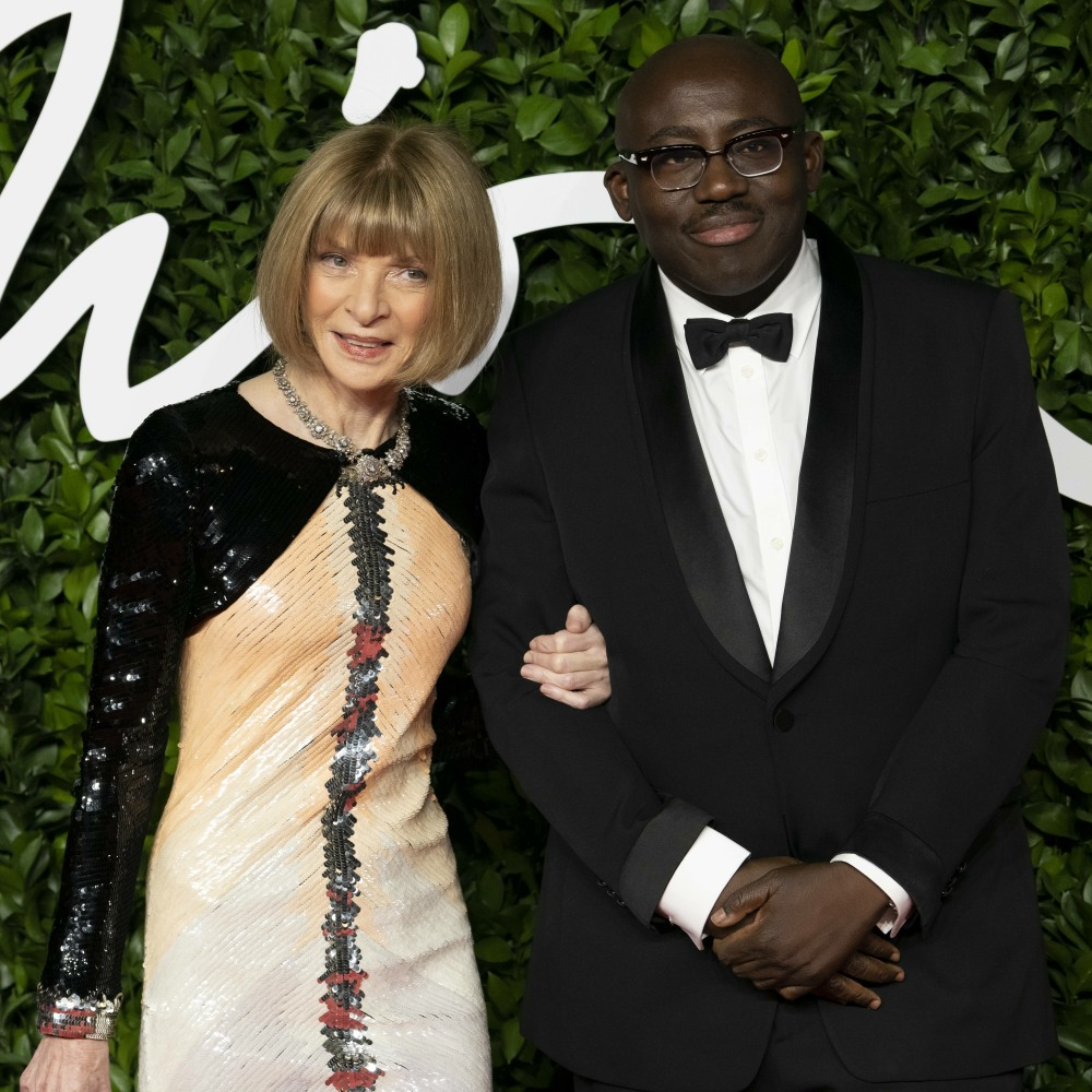 Anna Wintour and Edward Enninful attend The Fashion Awards 2019 at The Royal Albert Hall. London, UK. 02/12/2019