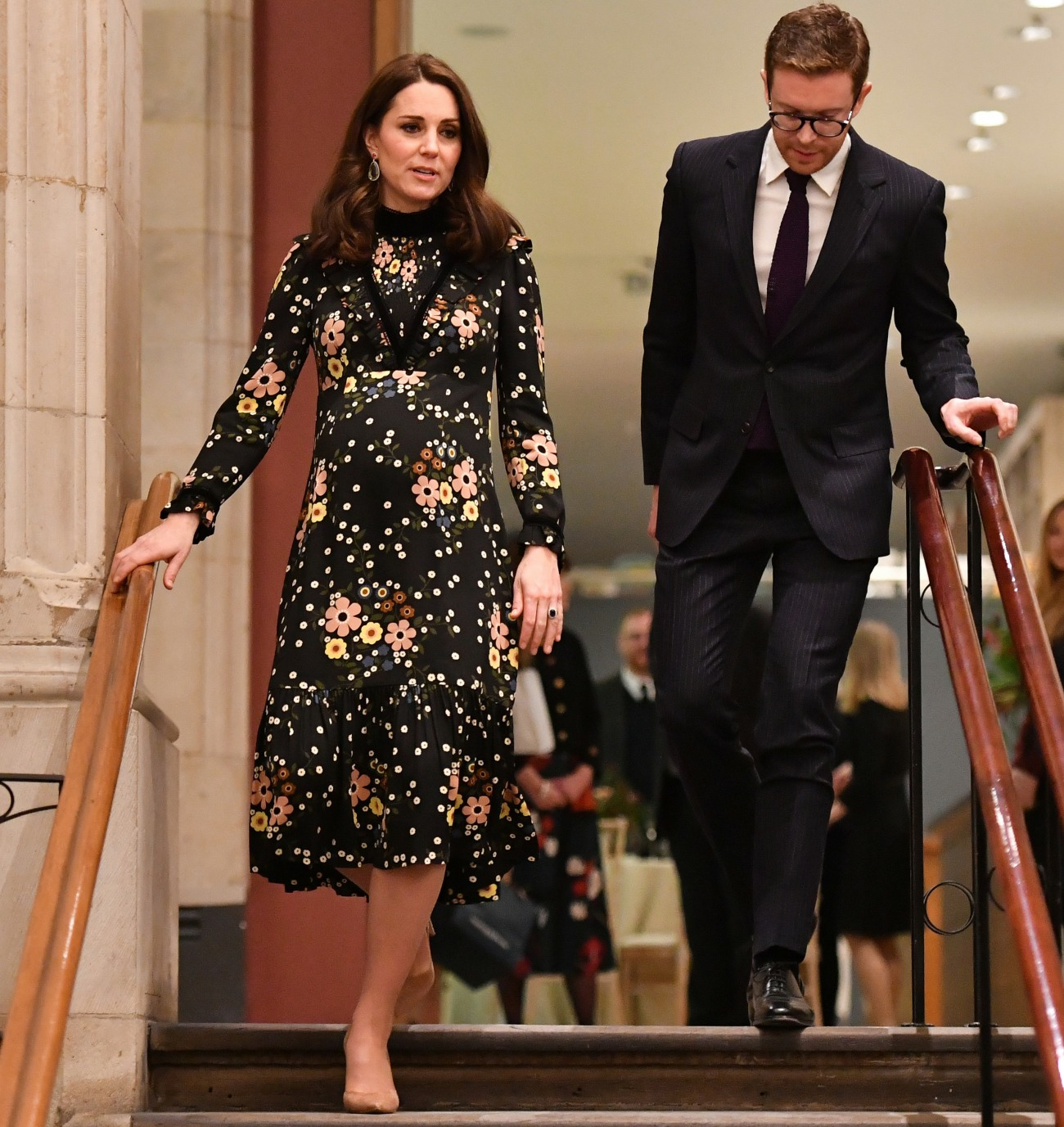 Britain's Catherine, Duchess of Cambridge leaves after her visit to the exhibition, 'Victorian Giants: The Birth of Art Photography' at the National Portrait Gallery in central London on Februaury 28, 2018, where she unveiled the Gallery's first Patron's Trail.