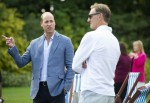 The Duke of Cambridge hosts an outdoor screening of the Heads Up FA Cup final on the Sandringham Estate. William with former Arsenal player Tony Adams.   1.8.2020