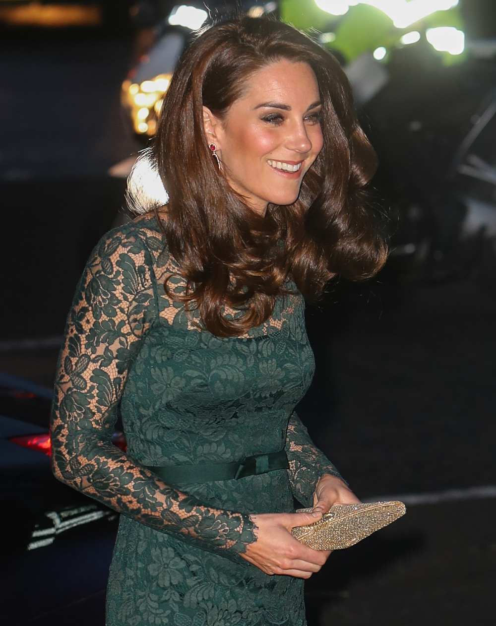 The Duchess of Cambridge arrives at The Portrait Gala 2017