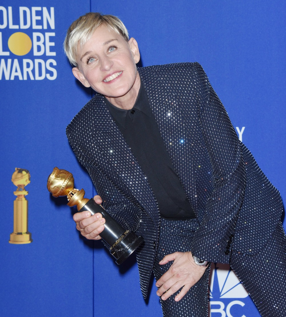 Ellen Degeneres in the press room at the 77th Annual Golden Globe Awards at The Beverly Hilton Hotel on January 05, 2020 in Beverly Hills, California © Jill Johnson/jpistudios.com