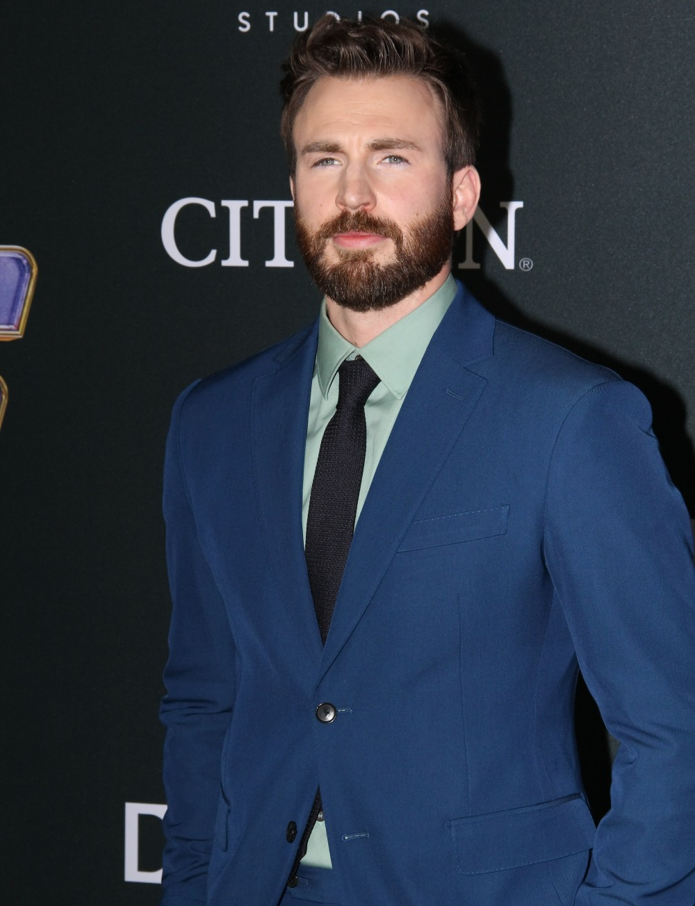 "Chris Evans at the Marvel Studios World Premiere of ""Avengers Endgame"". Held at the Los Angeles Convention Center in Los Angeles, CA, April 22, 2019."