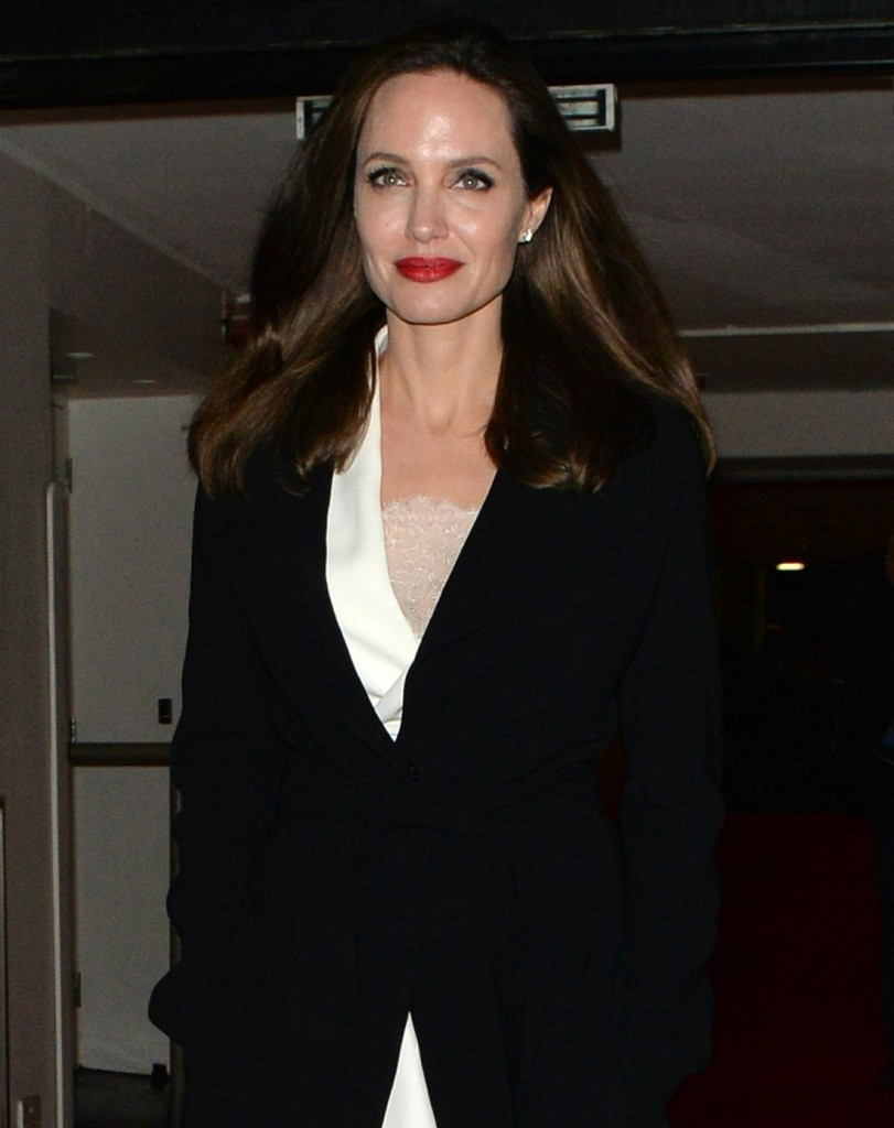 Angelina Jolie exits the 'Fighting Stigma Through Film Festival' in London